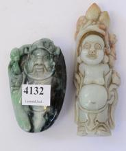 TWO JADE CARVINGS OF DIETY'S