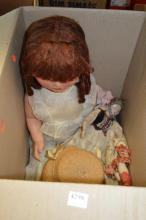 A COLLECTION OF FOUR VINTAGE DOLLS