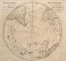 18TH CENTURY MAP OF THE SOUTHERN HEMISPHERE