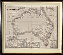 19TH CENTURY OF MAP OF AUSTRALIA