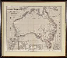 19TH CENTURY OF MAP OF AUSTRALIA