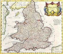 17TH CENTURY MAP OF ENGLAND
