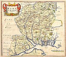 17TH CENTURY MAP OF HAMPSHIRE