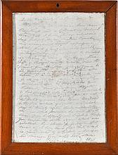 19TH CENTURY FRAMED LETTER ADRESSSED TO LORD BYRON