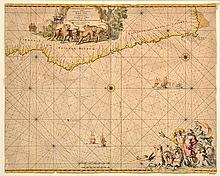 17TH CENTURY SEA CHART OF AFRICA