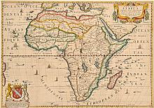17TH CENTURY MAP OF AFRICA