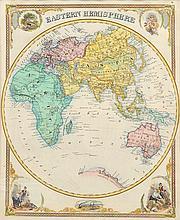19TH CENTURY MAP OF THE EASTERN HEMISPHERE