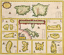 17TH CENTURY MAP OF MEDITERRANEAN ISLANDS