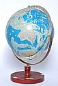JAPANESE WORLD GLOBE ON PAINTED METAL STAND 48cm high