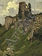 ARTHUR STREETON (1867-1943) Corfe Castle oil on canvas