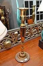 A PAIR OF BRASS LAMP BASES