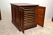 AN EARLY 20TH C. VICTORIAN CEDAR MAP CABINET