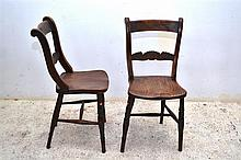 A PAIR OF LATE 19TH CENTURY OAK CHAIRS