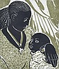 JO HANNAN (20TH CENTURY) Black Madonna woodblock 21/30