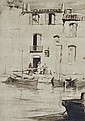 HAROLD B. HERBERT (1892-1945) Fishing Boats, Martiques etching 28/50