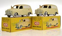2 X RARE  CIJ 3/55 BERLINE AMBULANCE, CREAM WITH