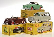 3 X CIJ MODELS INCLUDING 3/46 PEUGEOT COMMERCIALE