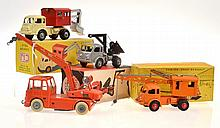4 X CIJ MODELS INCLUDING AN UNBOXED CRANE EX-LOT
