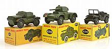 3 X DINKY MILITARY VEHICLES INCLUDING 674 AUSTIN