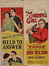 THREE LONG AUSTRALIAN DAYBILL POSTERS FOR 1920S