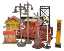 COLLECTION OF TRAIN ACCESSORIES AND ROLLING STOCK FROM VARIOUS MAKES INCLUDING JEP, JOYTOWN, METTOY AND OTHERS, UNBOXED, A/F (A LOT)