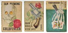 3 X IAN FLEMING 1ST EDITIONS PUBLISHED BY JONATHAN CAPE LONDON INCLUDING 'FROM RUSSIA WITH LOVE' (1957); 'GOLDFINGER' (1959); AND
