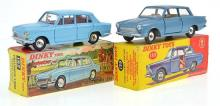 2 X DINKY MODELS INCLUDING NO. 139 FORD COSULT CORTINA; AND NO. 162 TRIUMPH 1300, BOTH IN ORIGINAL BOXES (VG - E BOXES VG - E) (2)