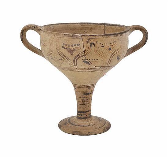 A GREEK POTTERY CHALLISCIRCA 8TH-9TH CENTURT B.C