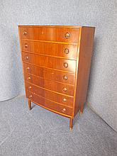 DANISH SEVEN-DRAWER TEAK CHEST 125 x 80 x 41cm