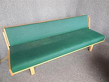 HANS WEGNER (DANISH, 1914-2007) DAYBED WITH GREEN UPHOLSTERY back length 206cm