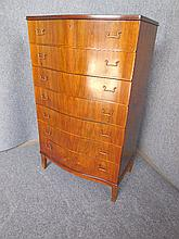 DANISH SEVEN-DRAWER OAK CHEST 120 x 72 x 47cm
