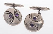 A PAIR OF CUFFLINKS BY GEORG JENSEN
