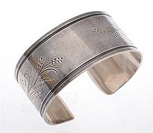 A CUFF BANGLE BY GEORG JENSEN