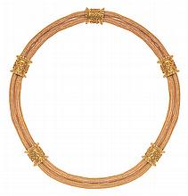 AN ETRUSCAN REVIVAL GOLD COLLAR