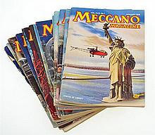 COLLECTION OF MECCANO MAGAZINES FROM 1954, 1957 AND 1958, INCOMPLETE SET (G) (15)