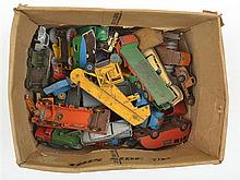 A LARGE COLLECTION OF UNBOXED DINKY CAR MODELS (AF)