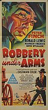'ROBBERY UNDER ARMS' (1957) AUSTRALIAN DAYBILL FILM POSTER, FULLY FOLDED