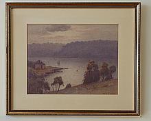 EllisStJohn(1874-1949), MiddleHarbour,Sydney, watercolour on paper, 26x34cm, signedlowerright