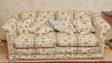PairofTwoSeater Overstuffed Sofas