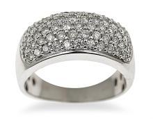 A PAVE SET DIAMOND RING