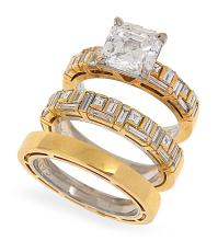 A SOLITAIRE DIAMOND RING BY CANTURI