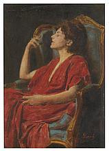 ARMIN GLATTER (HUNGARIAN, 1861-1916) Portrait of a Lady oil on board