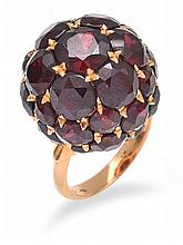 A GARNET COCKTAIL RING