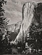 ANSEL ADAMS (AMERICAN, 1902-1984) i. El Capitan, Yosemite National Park, California, 1950ii. Cathedral Peak and Lake, Yosemite Natio...