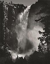 ANSEL ADAMS (AMERICAN, 1902-1984) Bridalveil Fall, Yosemite National Park, California, 1927 silver gelatin print