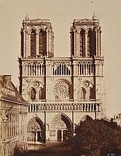 EDUARD BALDUS (FRENCH, 1813-1889) Cathedral de Notre Dame, circa 1857 albumen print mounted on board