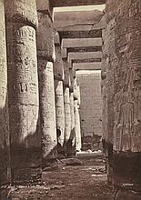 HENRI BECHARD Salle Hypostile, Karnak, Egypt trip, 1875-85 albumen print