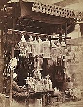 HENRI BECHARD (FRENCH, ACTIVE 1860S-1870S) Lighting shop, Cairo, 1875 albumen print