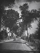 BRASSAI (GYULA HALASZ) (HUNGARIAN, 1899-1984) Untitled (Road into Allier), circa 1946 silver gelatin print
