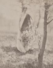 GEORGE SEELEY (AMERICAN, 1880-1955) Spring, circa 1910 platinum print on card mount